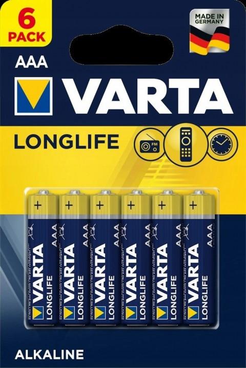 Varta Longlife Alkaline İnce Pil 6'lı AAA